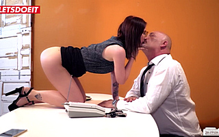 Secretary Girl Was Fucked By Her Old Chief